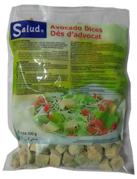 Awokado Hass kostka 15x15mm mr. 500g/12 Salud