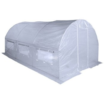 TUNEL 3X4,5 GREEN HOUSE WHITE -HOME