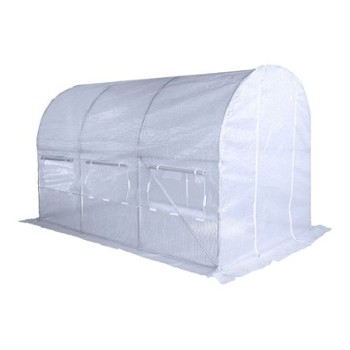 TUNEL 2X4,5 GREEN HOUSE WHITE -HOME